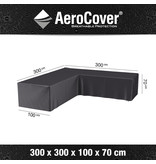 Aerocover L vormige loungesethoes 300x300x70h cm.