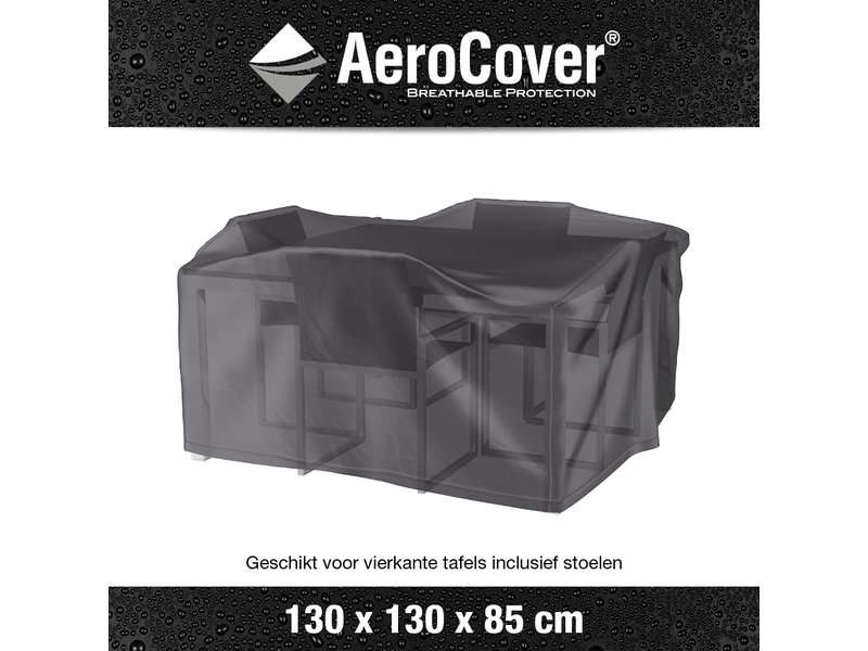 Aerocover beschermhoes voor een kleine tuinset 130x130 cm.  in het vierkante