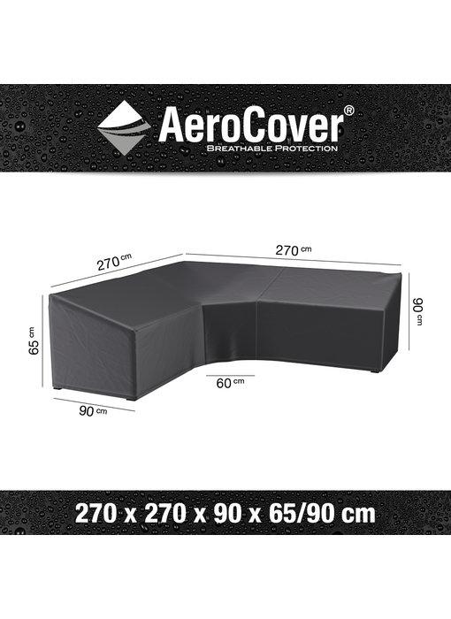 Aerocover L vormige loungesethoes 270x270x65/90h cm.