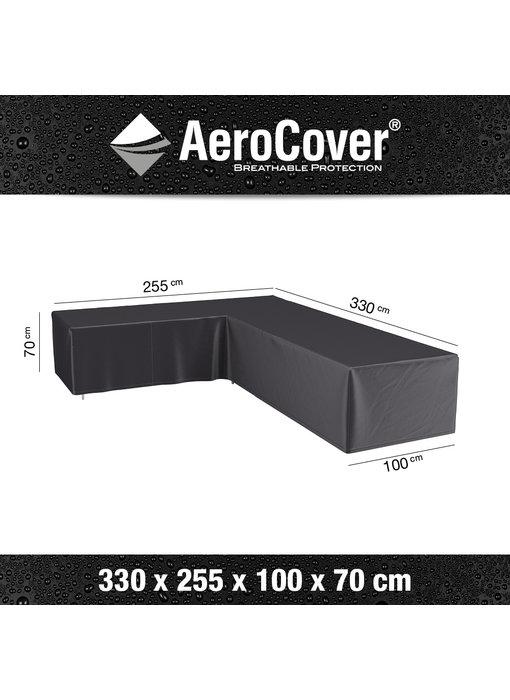 Aerocover L vormige loungesethoes 330x255x70h cm. - Links