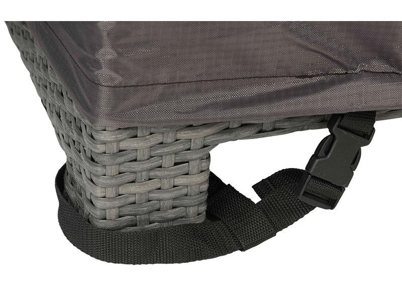 Aerocover L vormige loungesethoes 325x325x70h cm.