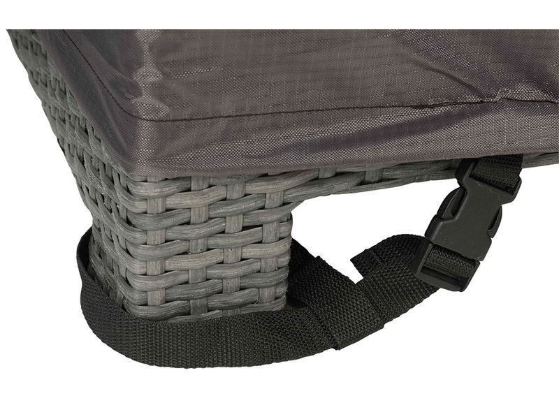 Aerocover L vormige loungesethoes 330x255x70h cm. - rechts