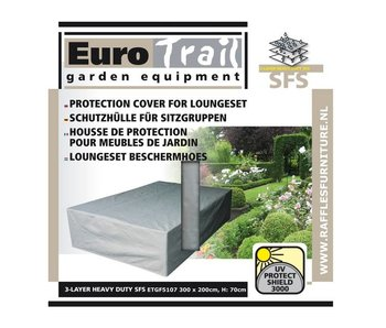 Eurotrail  Loungesethoes 300x200x70 cm. 3-Laags