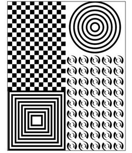 "Lisa Pavelka Texture Stamp ""OpArt"""