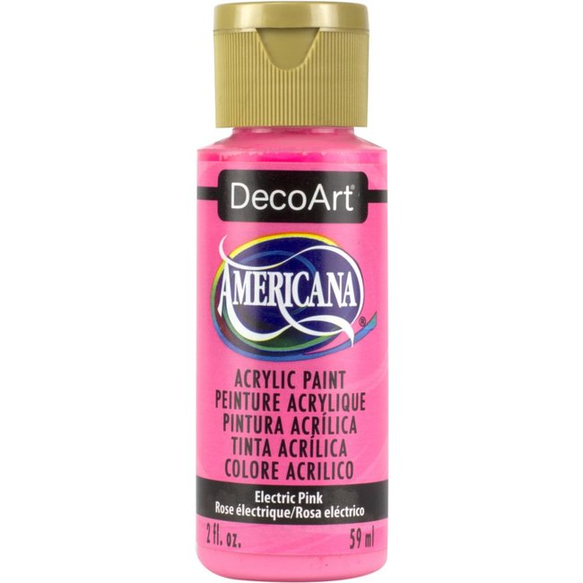DecoArt Americana Acrylic Paint Electric Pink