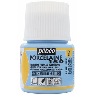 Pebeo Porseleinverf Gloss Pastel Blue (51) 45 ml.