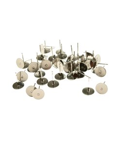 Stainless Steal Earstud tray 8 mm. (without stop) 10 pair
