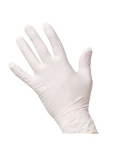 White Latex Rubber Gloves size L 3 pair