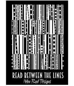 "Helen Breil Texture Stamp ""Read Between The Lines"""