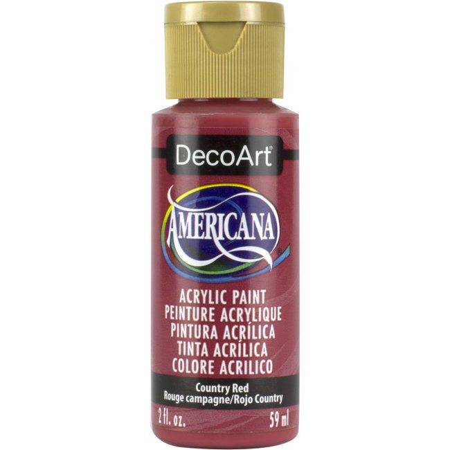 DecoArt Americana Acryl Verf Country Red
