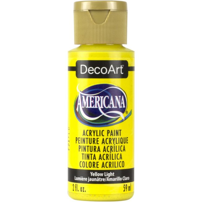 DecoArt Americana Acrylic Paint Yellow Light