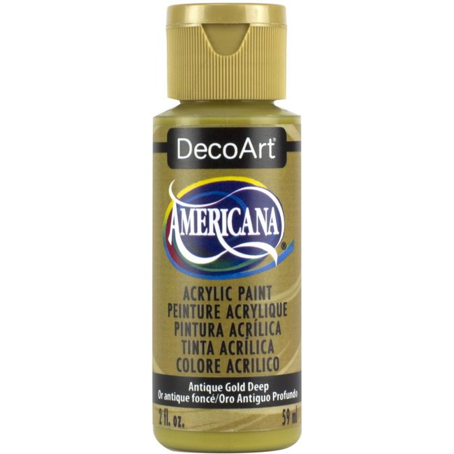 DecoArt Americana Acryl Verf Antique Gold Deep