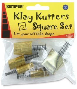 Kemper Tools - Klay Cutters Square Set