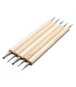 Dotting Tools Blank Wood Set of 5
