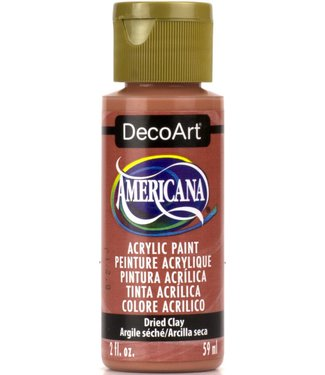 Americana Acrylic Paint Dried Clay