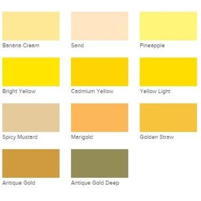 Acryl Verf DecoArt Americana Yellows