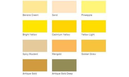 Acrylic Paint DecoArt Americana Yellows
