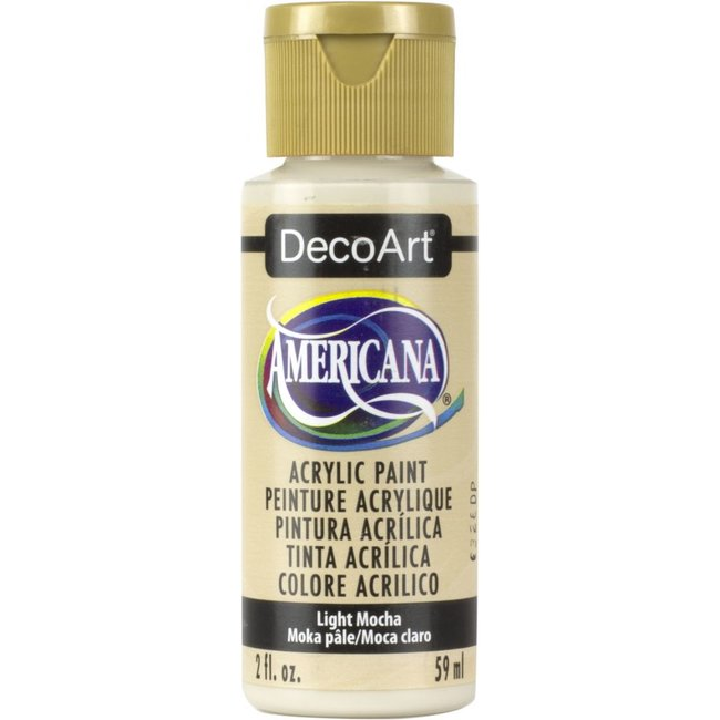 DecoArt Americana Acrylic Paint Light Mocha