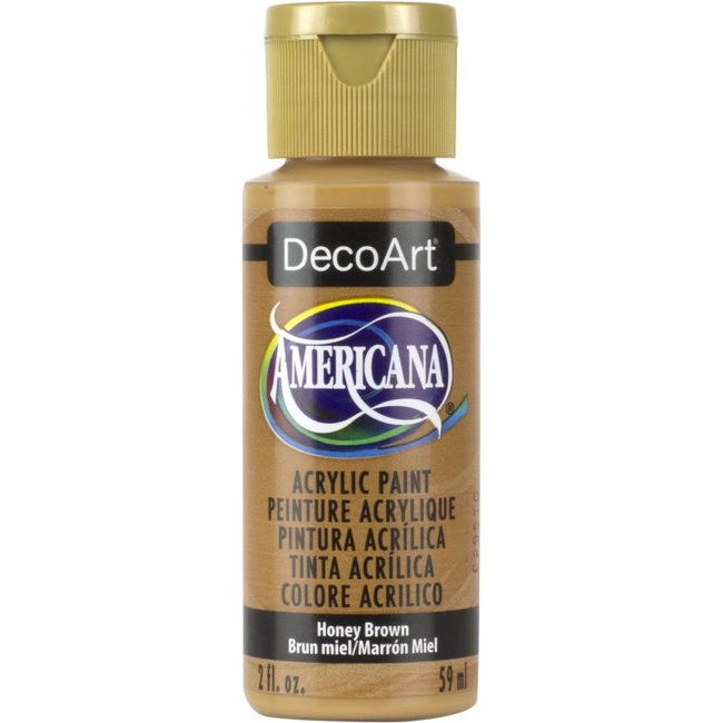 DecoArt Americana Acryl Verf Honey Brown