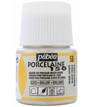 Pebeo Porcelain Paint Gloss Pearl White (56) 45 ml.