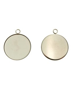 Pendant Round 25 mm. Stainless steel