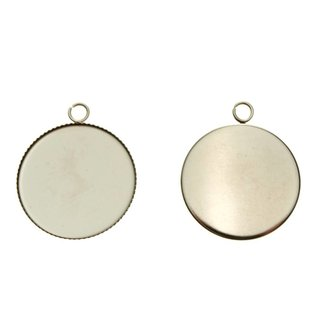 Pendant Round 25 mm. Stainless steel per piece