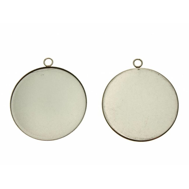 Pendant Round 35 mm. Stainless steel per piece