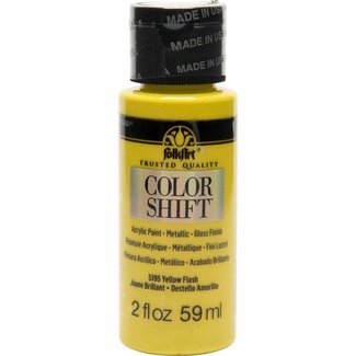 FolkArt Color Shift Metallic Verf Yellow Flash