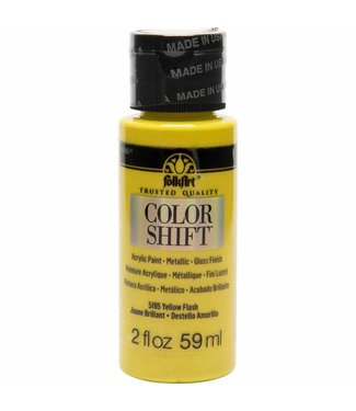 FolkArt Color Shift Metallic Paint Yellow Flash