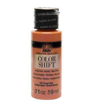 FolkArt Color Shift Metallic Paint Orange Flash