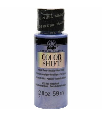 FolkArt Color Shift Metallic Paint Blue Violet Flash