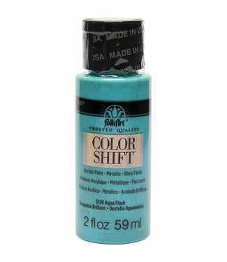 FolkArt Color Shift Metallic Paint Aqua Flash