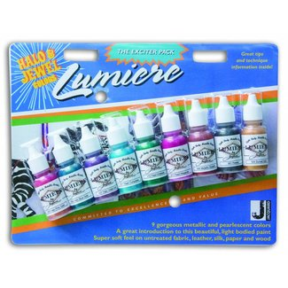 Jacquard Lumiere paint Halo & Jewel Colors Exciter Pack