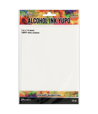 Ranger Yupo Paper 5 inch x 7 inch. White cardstock 10 pieces