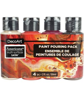 DecoArt Verf Pouring Pack Multi Surface - Molten Lava