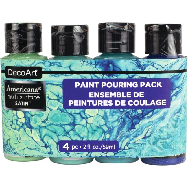 DecoArt Verf Pouring Pack Multi Surface - Coastal