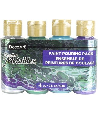 DecoArt Verf Pouring Pack Dazzling Metallics - Jewel Tones