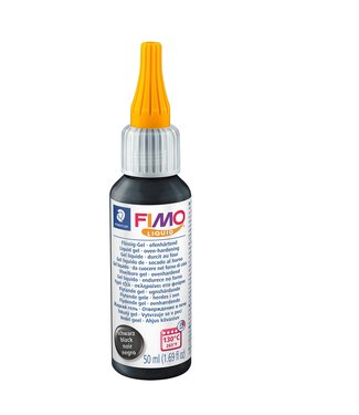 Fimo Liquid Zwart 50 ml.