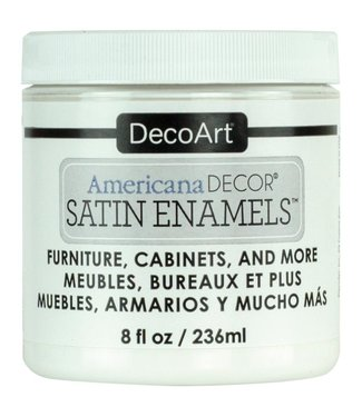 Americana Decor Satin Enamels Pure White 8 fl oz (236 ml.)