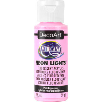 Americana Acrylic Paint Neon Lights Pink Explosion