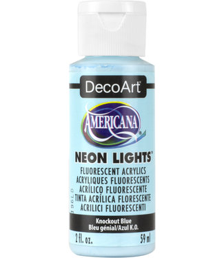 Americana Acrylic Paint Neon Lights Knockout Blue
