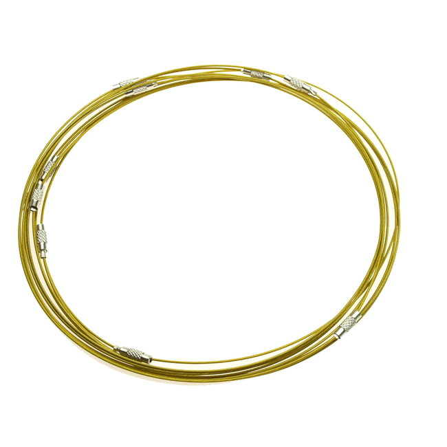 "Olive choker with twist lock 17.5"" - 45 cm. wire 1 mm."