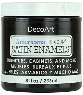Americana Decor Satin Enamels Classic Black 8 fl oz (236 ml.)
