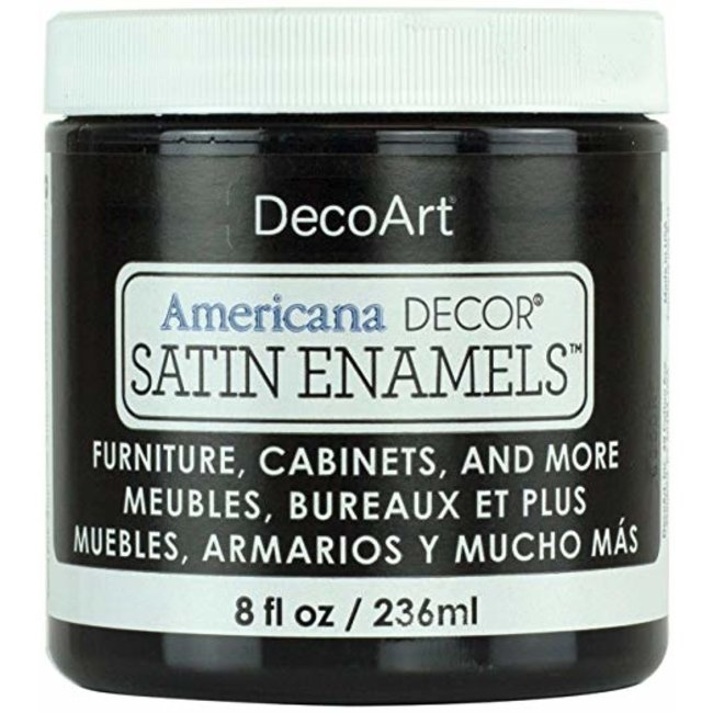 DecoArt Americana Decor Satin Enamels Classic Black 236 ml.