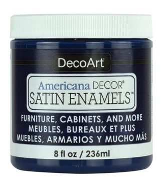 Americana Decor Satin Enamels Dark Denim 8 fl oz (236 ml.)