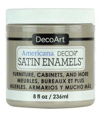 Americana Decor Satin Enamels Grey Taup 8 fl oz (236 ml.)