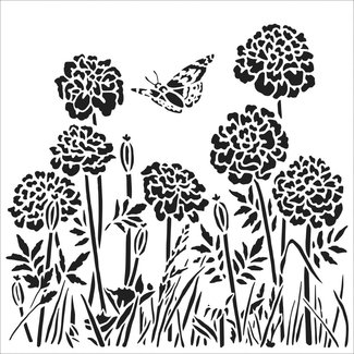 The Crafter's Workshop Stencil Happy Dandelions
