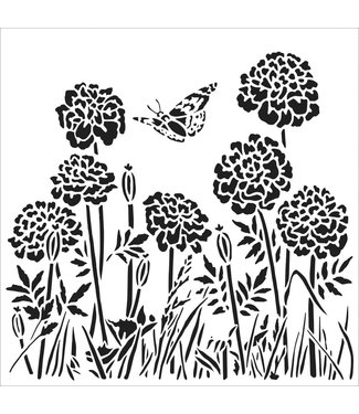TheCraftersWorkshop Stencil Happy Dandelions