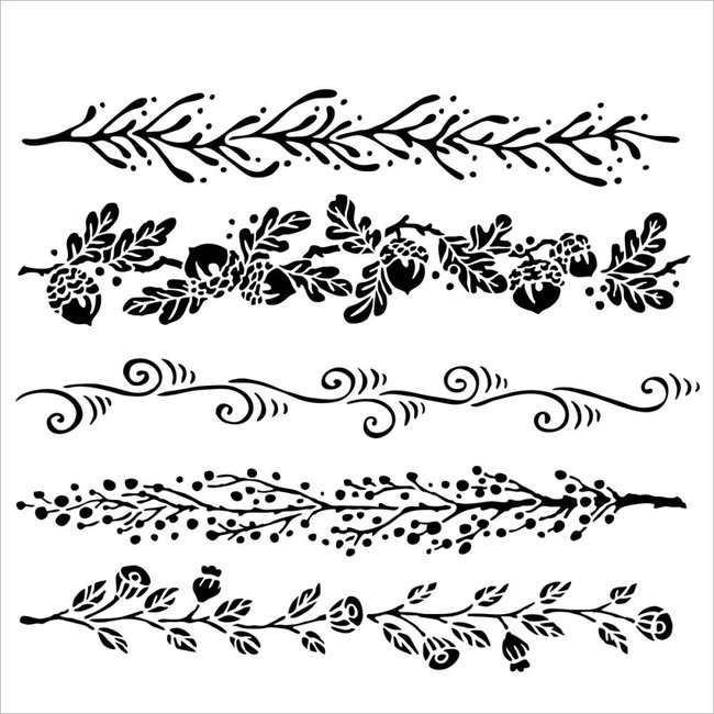 The Crafter's Workshop Stencil Fanciful Borders
