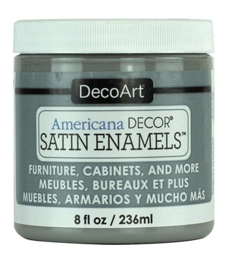 Americana Decor Satin Enamels Smoke Grey 8 fl oz (236 ml.)